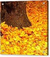 Candycorn Leaves Acrylic Print