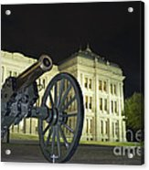 Cannon In Front Of The Texas State Capitol In Austin Acrylic Print