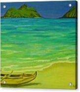 Canoe At Lanikai Beach Acrylic Print
