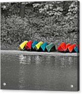 Canoes In A Row Acrylic Print