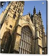 Canterbury Cathedral, Low Angle View Acrylic Print