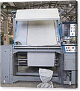 Canvas Trimming Machine Acrylic Print