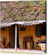 Southwest Canyon Hacienda Acrylic Print
