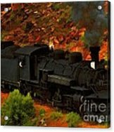 Canyon Train Acrylic Print