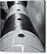 Cape Canaveral Lighthouse Black And White Acrylic Print