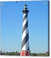 Cape Hatteras Lighthouse - Outer Banks - Christmas Card Acrylic Print