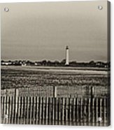 Cape May Light House In Sepia Acrylic Print