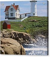 Cape Neddick Nubble Lighthouse Maine Acrylic Print by Jeff Clinedinst