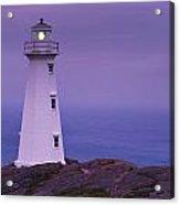 Cape Spear Lighthouse At Twilight, Cape Acrylic Print