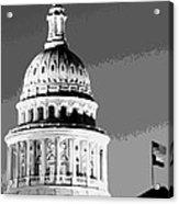 Capitol Dome Bw10 Acrylic Print