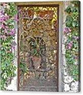 Capri-timeless Gate Acrylic Print by Italian Art