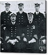 Captain And Officers Of The Titanic Acrylic Print