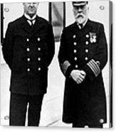 Captain Edward Smith Right, Of The Rms Acrylic Print