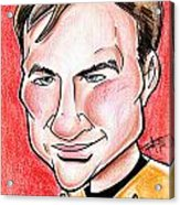 Captain James T. Kirk Acrylic Print by Big Mike Roate