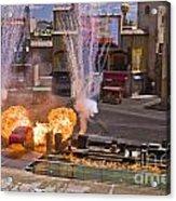 Car And Explosions At Disney Hollywood Acrylic Print