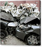 Car Crash In Cairo Acrylic Print