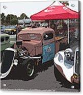 Car Show Hot Rods Acrylic Print by Steve McKinzie