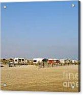 Caravans Parked On Beach Acrylic Print