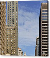 Carbide And Carbon And Wrigley Building - Two Chicago Classics Acrylic Print