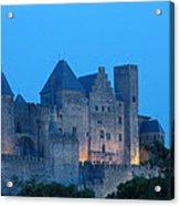 Carcassonne At Twilight Acrylic Print