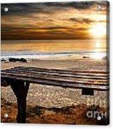 Carcavelos Beach Acrylic Print