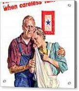Careless Talk Kills -- Ww2 Propaganda Acrylic Print