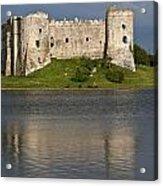 Carew Castle Reflections Acrylic Print