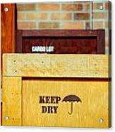 Cargo Crates Acrylic Print