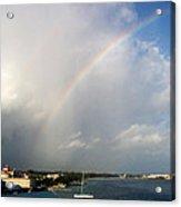 Caribbean Rainbow Acrylic Print