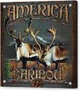 Caribou Acrylic Print by JQ Licensing