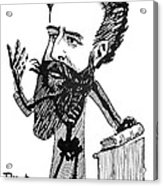 Caricature Of Roentgen And X-rays Acrylic Print by