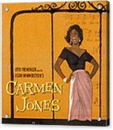 Carmen Jones, Dorothy Dandridge, 1954 Acrylic Print