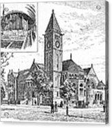 Carnegie Library, 1890 Acrylic Print