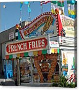 Carnival Festival Fun Fair French Fries Food Stand Acrylic Print by Kathy Fornal