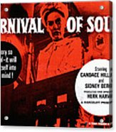 Carnival Of Souls, British Quad Poster Acrylic Print by Everett