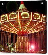 Carnival Swing Nite Acrylic Print