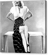 Carole Landis, Mid 1940s Acrylic Print