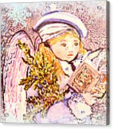 Caroling Angel Acrylic Print