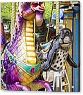 Carousal Dragon And Seal On A Merry-go-round Acrylic Print