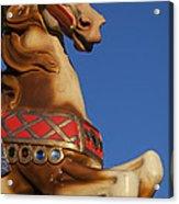 Carousel Horse Against Blue Sky Acrylic Print