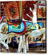Carousel Horse With Fish Acrylic Print
