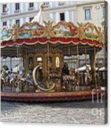 Carousel In Florence Acrylic Print