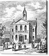 Carpenters Hall, 1855 Acrylic Print