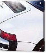 Carrera Porsche White Backend  Acrylic Print