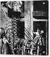 Carriage Cartoon, 1776 Acrylic Print