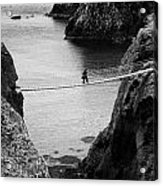 Carrick A Rede Rope Bridge County Antrim Ireland Acrylic Print