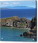 Carrick-a-rede Rope Bridge In The Acrylic Print
