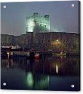 Carrickfergus Castle & Harbour, Co Acrylic Print