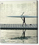 Carrying Single Scull Acrylic Print