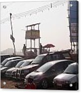 Cars In A Parking Lot At Surajkund Acrylic Print